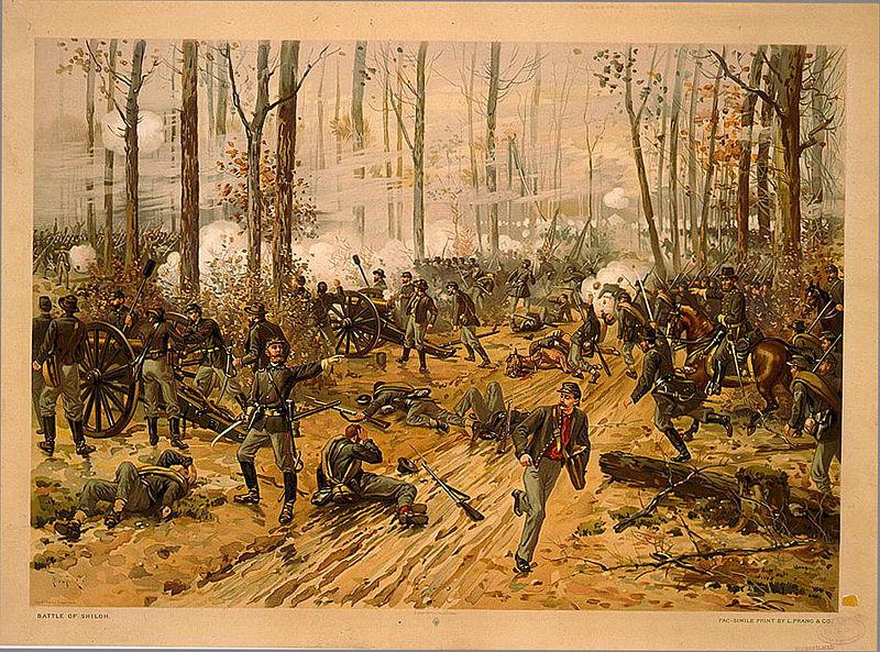 Battle of Shiloh (Chromolithograph by Thure de Thulstrup, 1888)