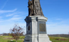 TThe 42nd New York 'Tammany Regiment' memorial at Gettysburg. Of the 182 men who contributed to the Irish Relief Fund only two months before, 13 would die as a result of this battle (Photo: J. Stephen Conn)