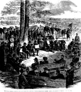 The sketch based on Timothy O'Sullivan's photograph which appeared only a few weeks after it was taken in Frank Leslie's Illustrated News (Frank Leslie's Illustrated News)