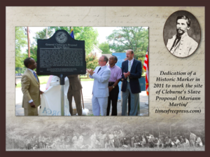Unveiling of Cleburne Slave Proposal Plaque