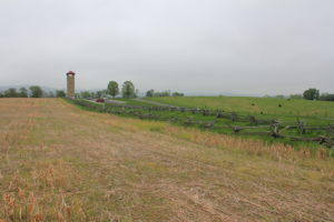 22. Another view of the Confederate positions, taken from the field across which the Irish Brigade advanced.