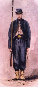 A Zouave of the 95th Pennsylvania Infantry as drawn by Xanthus Smith in 1861 (Xanthus Smith)