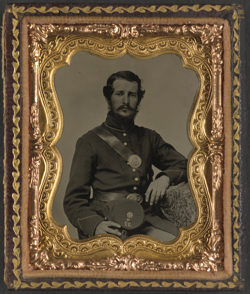 A soldier of the 37th New York Infantry (Library of Congress)