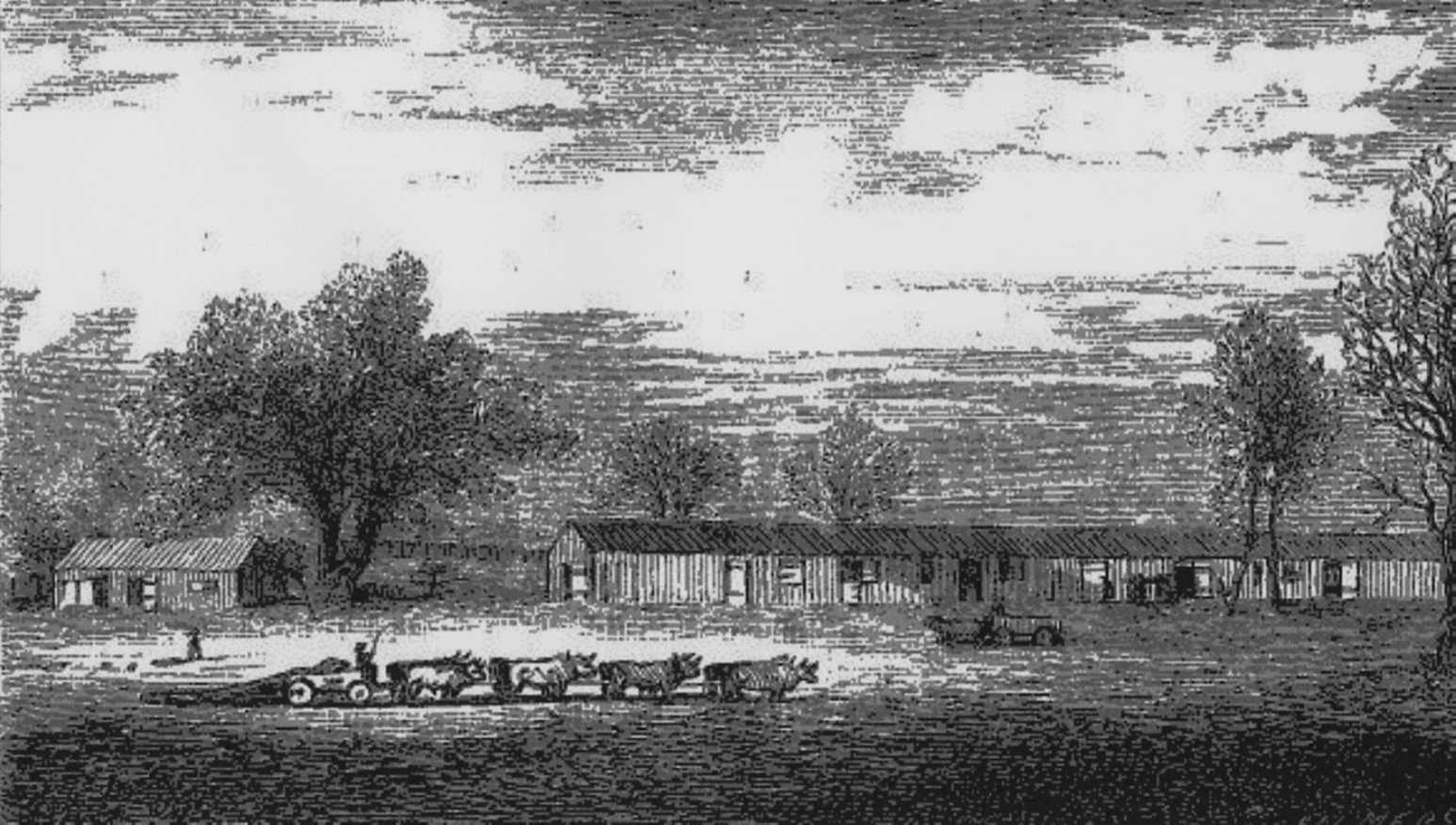 Camp Groce, Texas, where James Nugent was kept as a POW (Waller County Historical Society)