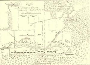 Map of the Battle of Praire Grove (The Union Indian Brigade in the Civil War)