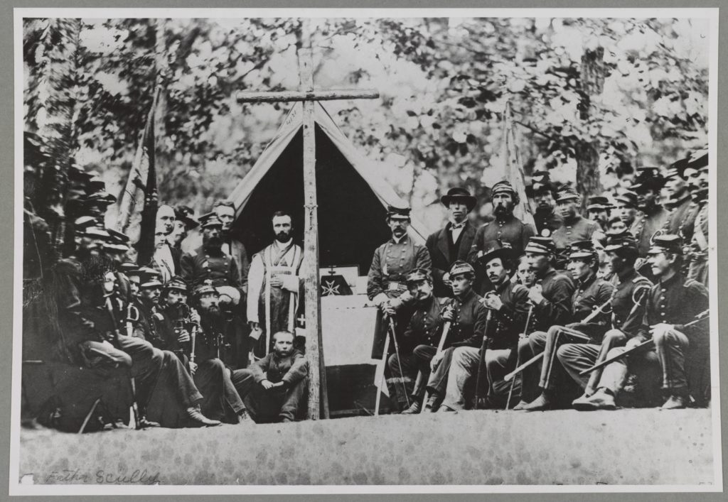 9th Massachusetts Infantry Camp near Washington D.C., 1861 (Library of Congress: LC-DIG-ppmsca-34231)