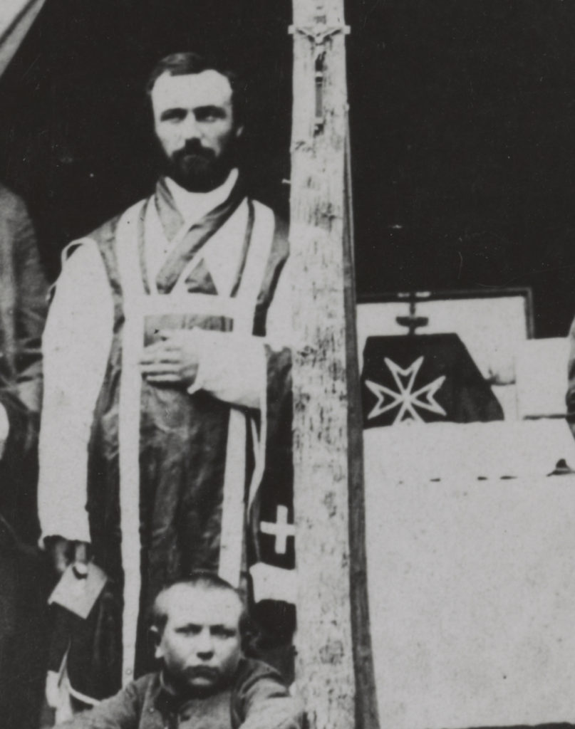 Father Thomas Scully of the 9th Massachusetts in a similar pose to Father Mooney
