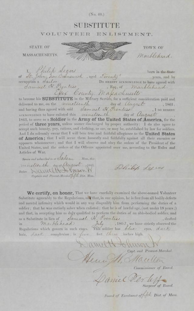 Philip Legers Enlistment