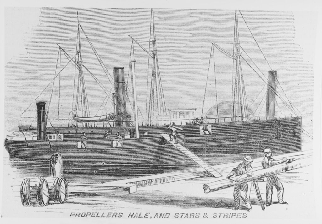 The USS E.B.Hale. John Egan from Co. Laois was her Quartermaster from 1863 to 1865 (Harper's Weekly)