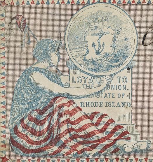 Patriotic Civil War Rhode Island envelope (Library of Congress)