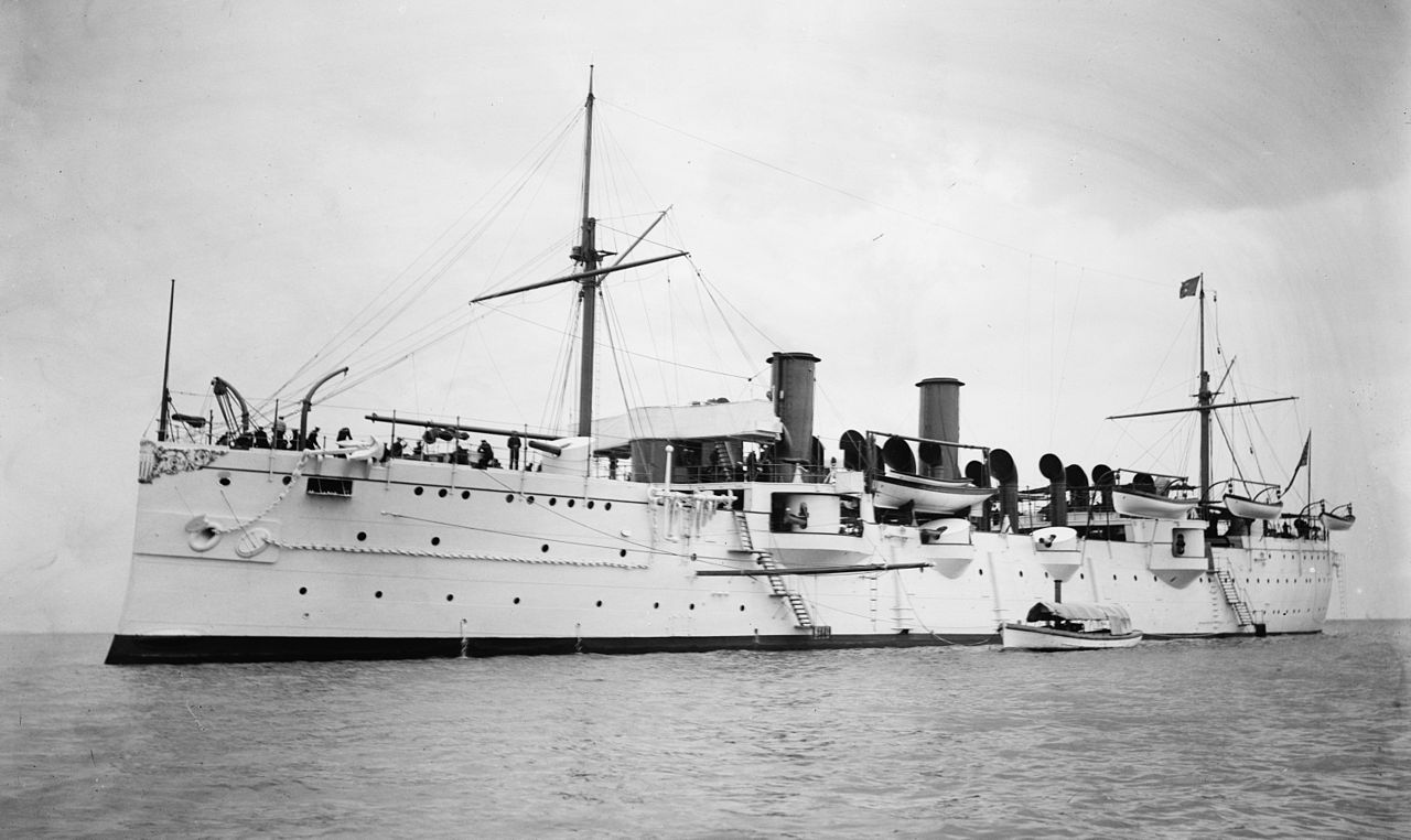 The Cruiser USS Philadelphia on which Coxswain James Butler served (State Historical Society of Colorado)