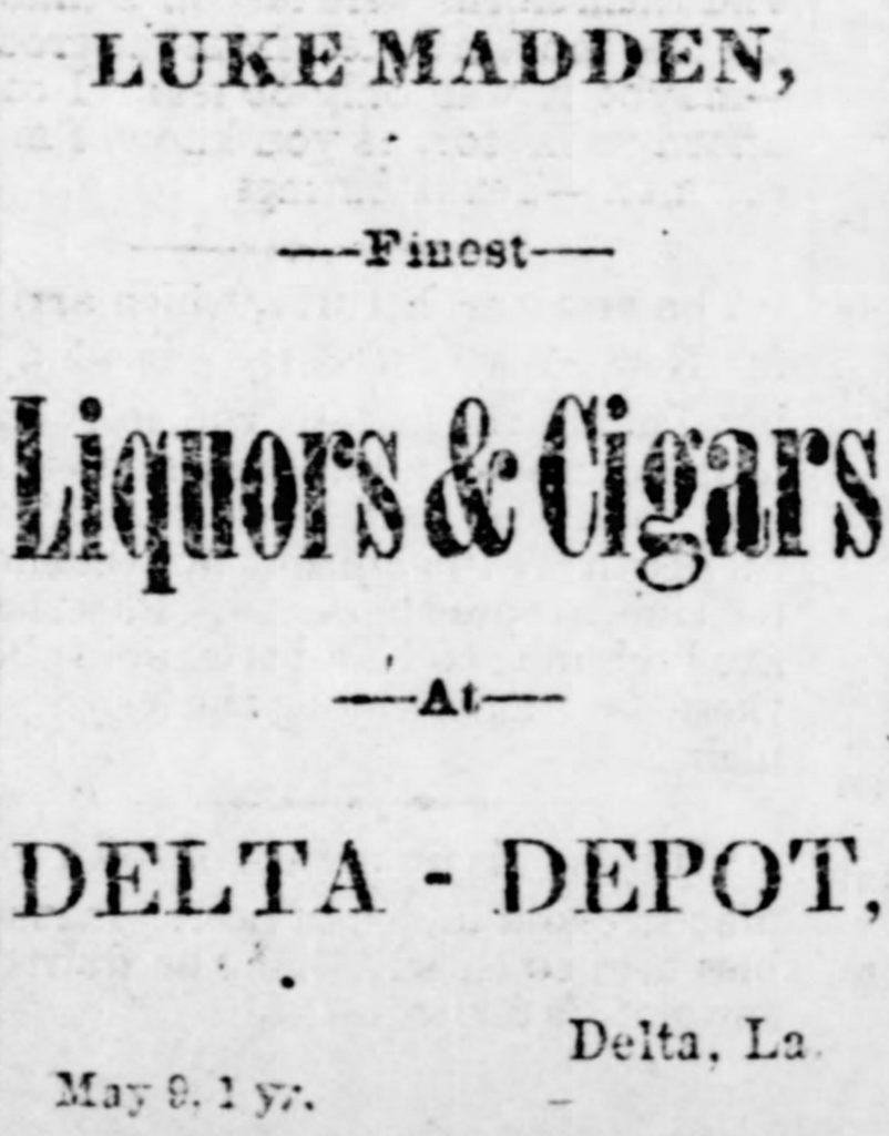 Luke Madden advertisement, Madison Times 5 September 1885 (Madison Times)