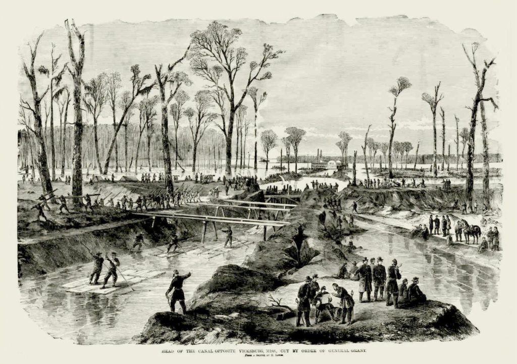 The Federal Canal under construction near Delta, Louisiana (Library of Congress)