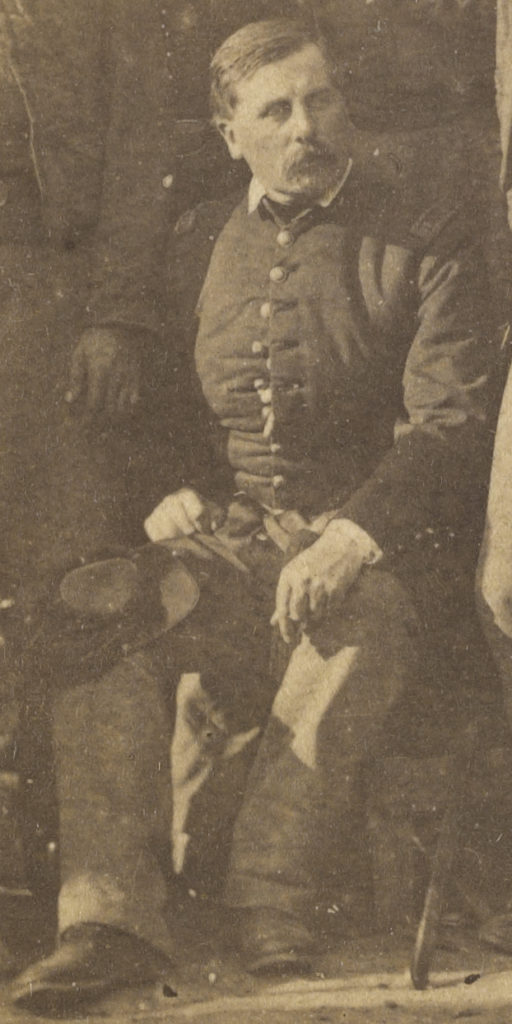 Gen. Thomas Francis Meagher, surrounded by a portion of his command. [Army of the Potomac]
