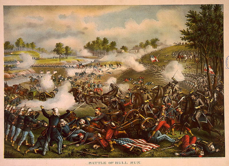 First Battle of Bull Run (Kurz & Allison 1889)