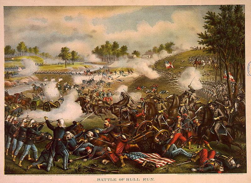 First Battle of Bull Run (Kurz & Allison 1889)