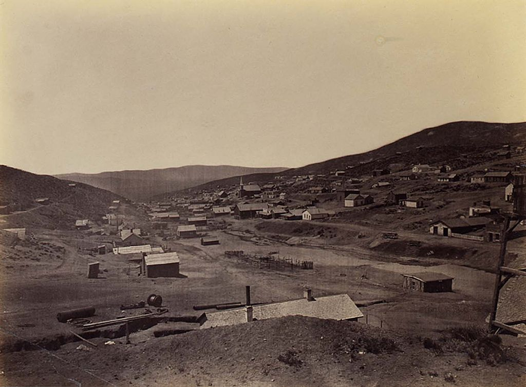 Austin, Nevada as it appeared during the King Survey in 1868. 'Rambler' describes the St. Patrick's Day parade here in 1864. This photograph was taken by famed American Civil War photographer (and Irishman) Timothy O'Sullivan (Smithsonian Institution)