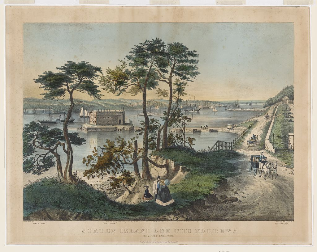 Staten Island and the Narrows c. 1861 (Library of Congress)