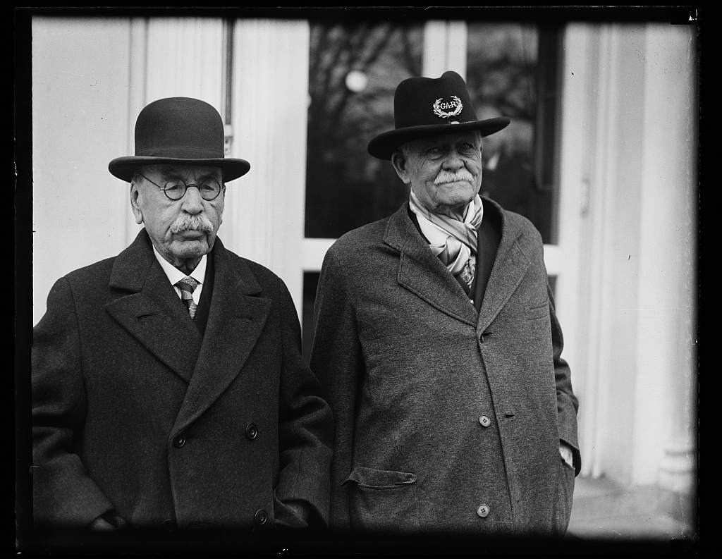 Civil War Veterans on their way to meet President Hoover in 1931 (Library of Congress)