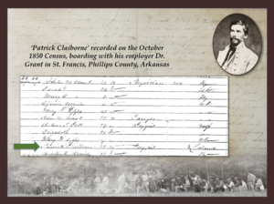 Cleburne on the 1850 Census