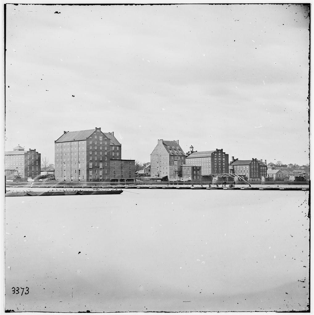 Woollen Factories in Richmond, Virginia in 1865 (Library of Congress)
