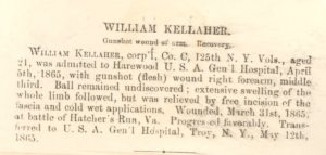 Description which accompanied the Kelleher image (National Museum of Health & Medicine)