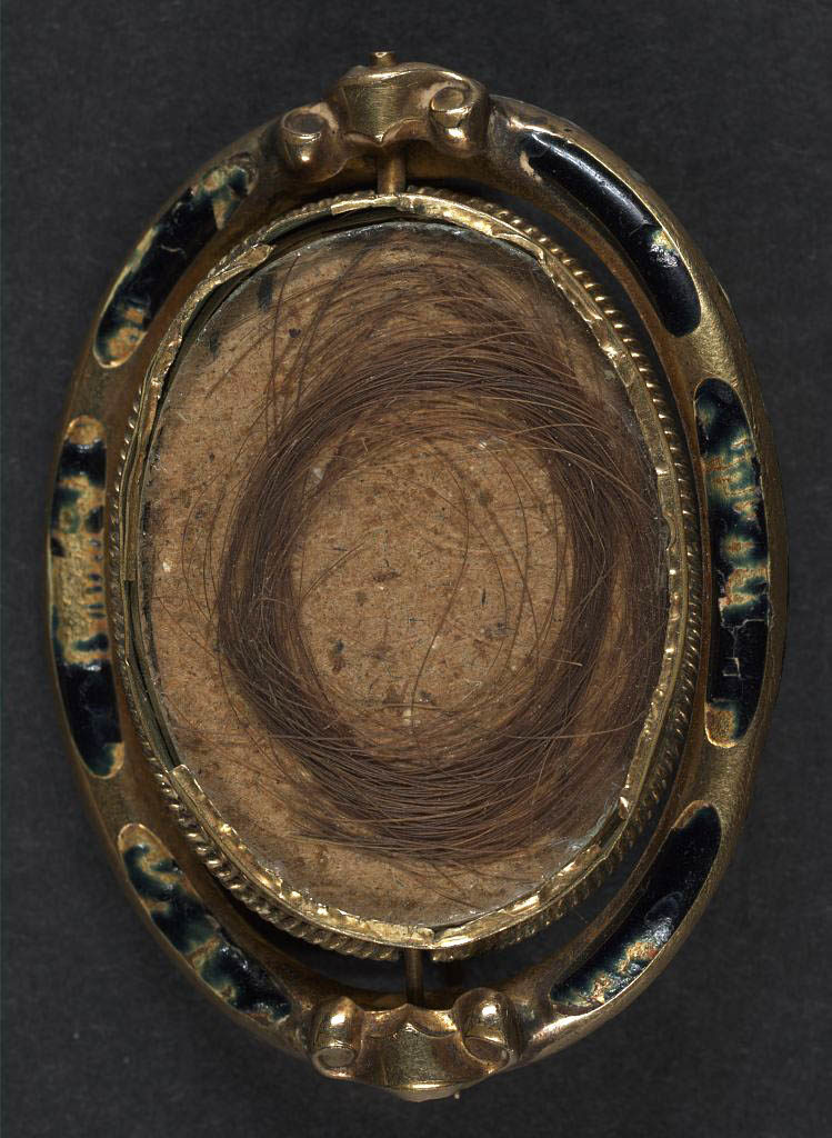 The reverse of the image, which contains a lock of the soldier's hair (Library of Congress)
