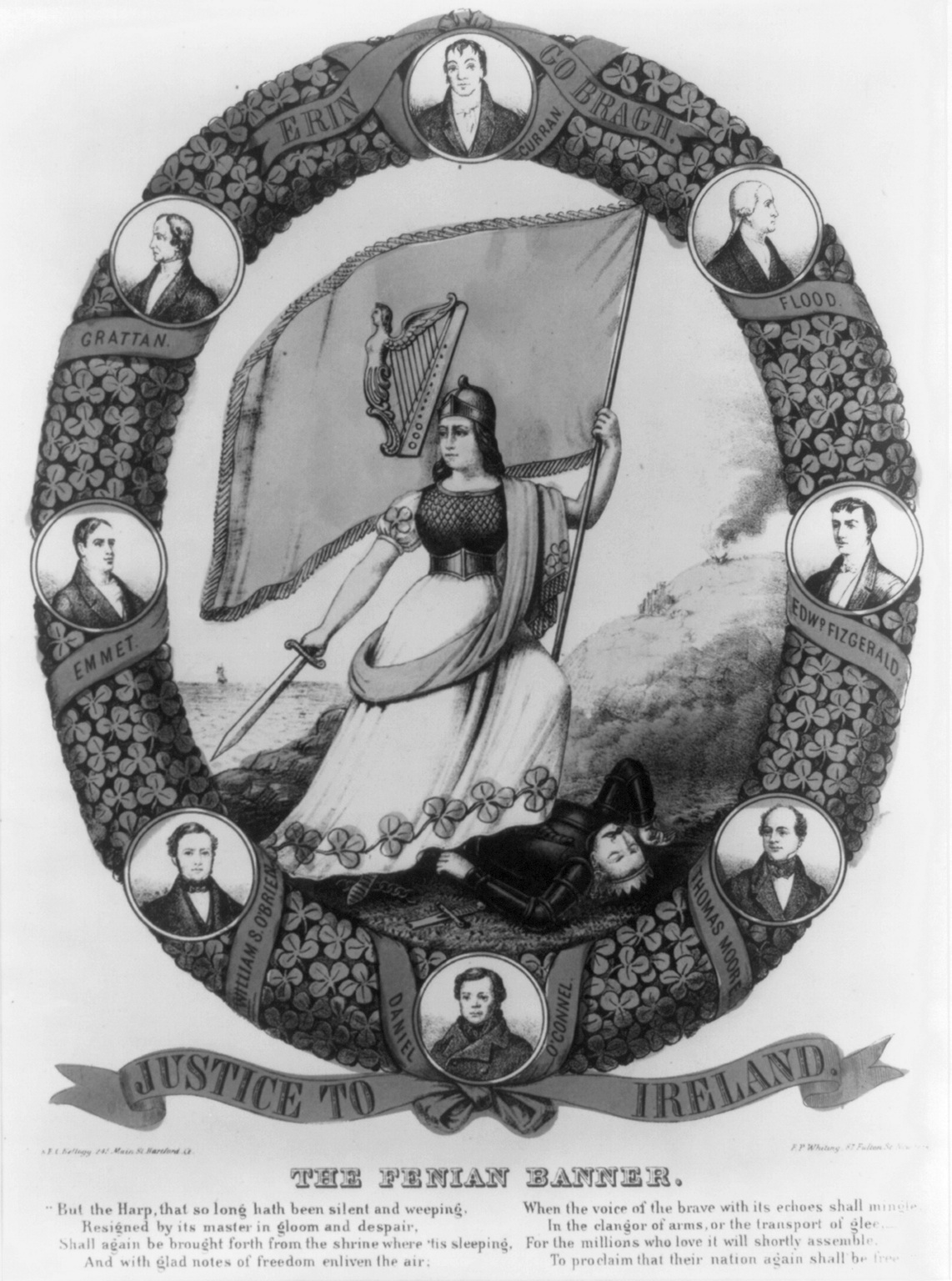 'The Fenian Banner', 1866 (Library of Congress)