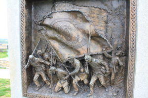 30. Detail of the Irish Brigade Memorial portraying the advance.