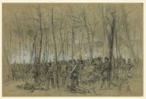 Wadsworth's division in action during the Battle of The Wilderness (Library of Congress)