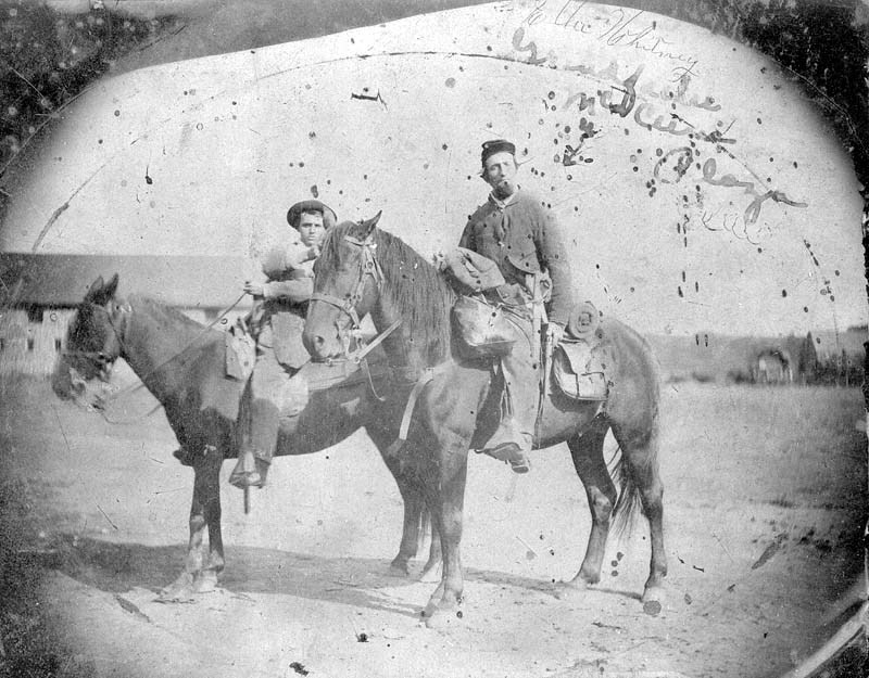 A trooper of the 3rd Wisconsin Cavalry in Fort Scott during the Civil War (Kansas Memory)