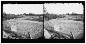 Confederate Battery at Howlett's House (Library of Congress)