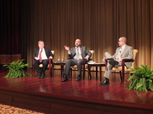 The panel during the discussion (Photo © Bruce Guthrie)
