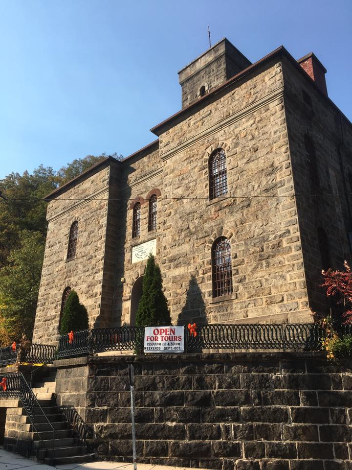 The prison in Mauch Chunk (now Jim Thorpe). Large numbers of Irish miners lived in this area, and in 1877 a number of them who were acussed of membership of the Molly Maguires were executed here (Damian Shiels)