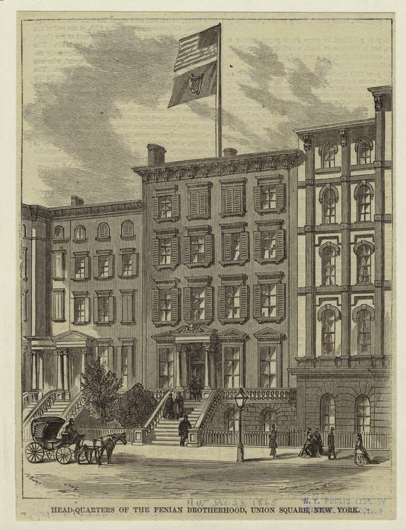 Headquarters of the Fenian Brotherhood, New York (nypl.digitalcollections.510d47e1-10dd-a3d9-e040-e00a18064a99.001.w)