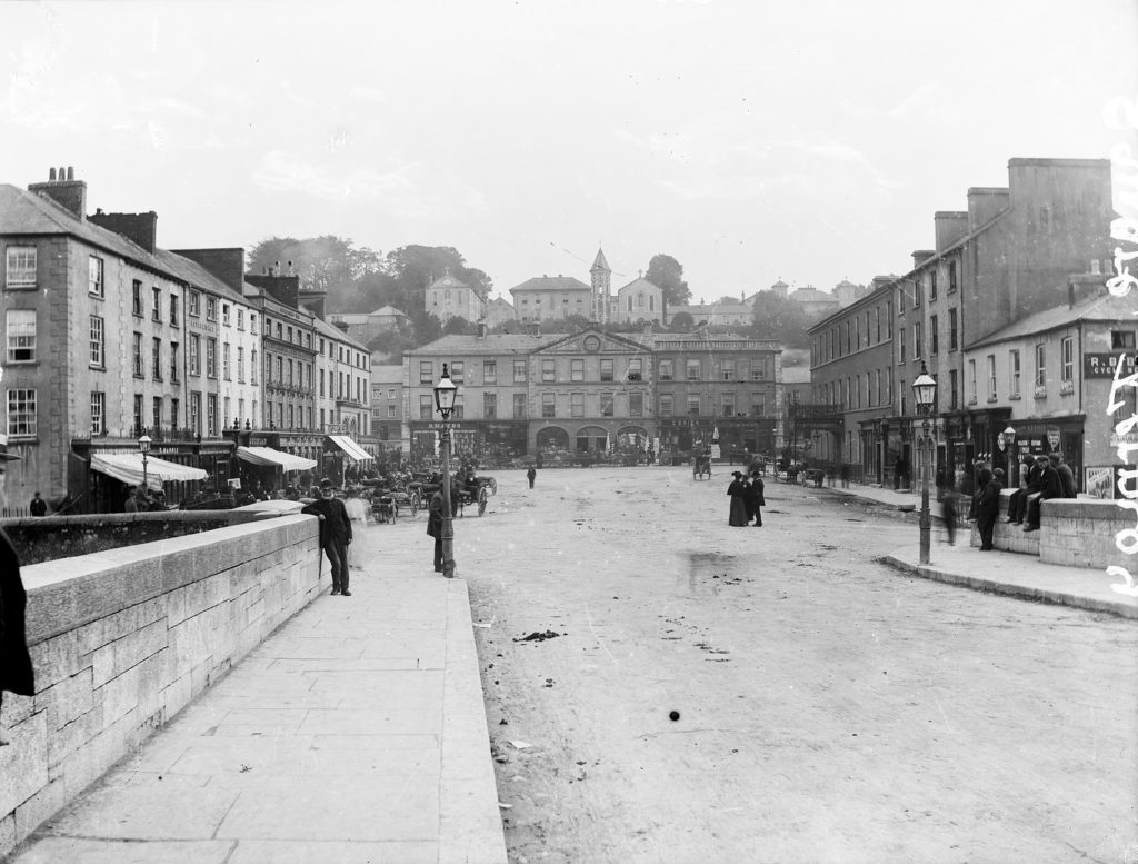Queen Square, Fermoy (Now Pearse Square) where the Sheehans lived (National Library of Ireland L_ROY_00062)