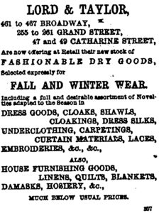 Lord & Taylor Dry Goods