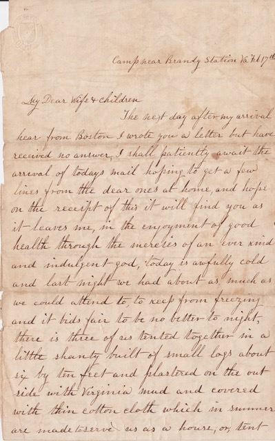 One of Florence's surviving letters (Ellen Alden)