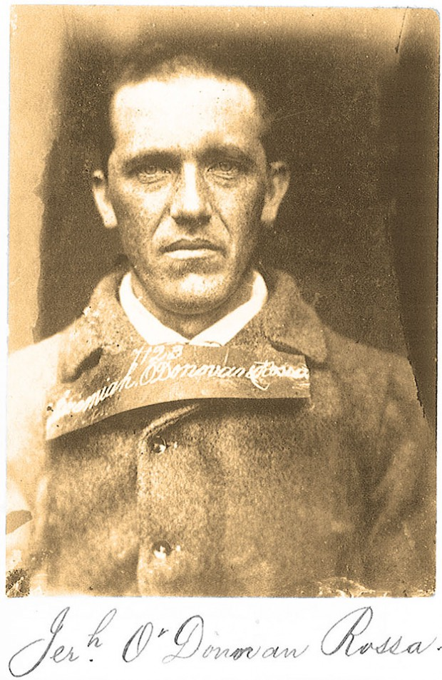 "Mugshot of Jeremiah O'Donovan Rossa, close friend of Billy O'Shea and perhaps the most famous of all the Fenians. Mastermind of the Dynamite Campaign, Patrick Pearse's eulogy at his funeral in 1915 was a major event on the road to the 1916 Rising: ""They have left us our Fenian dead, and while Ireland holds these graves, Ireland unfree shall never be at peace."" (Fenian Files)"