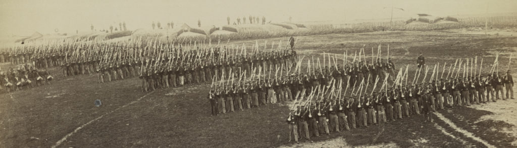 The 26th New York Infantry at Fort Lyon during the Civil War (Library of Congress)