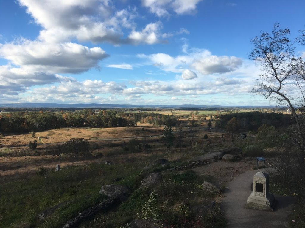 The view across Plum Run towards the Wheatfield from Little Round Top. The ground traversed by the U.S. Regulars on 2nd July 1863 (Damian Shiels)