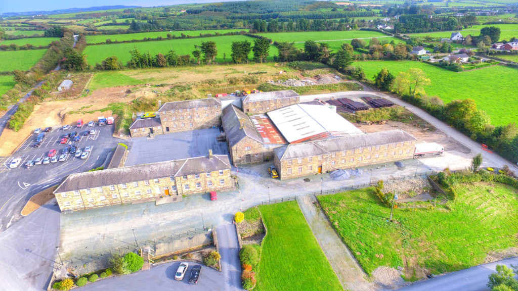 The Kilmacthomas Workhouse complex from the air (Image: Pat Kenealy)