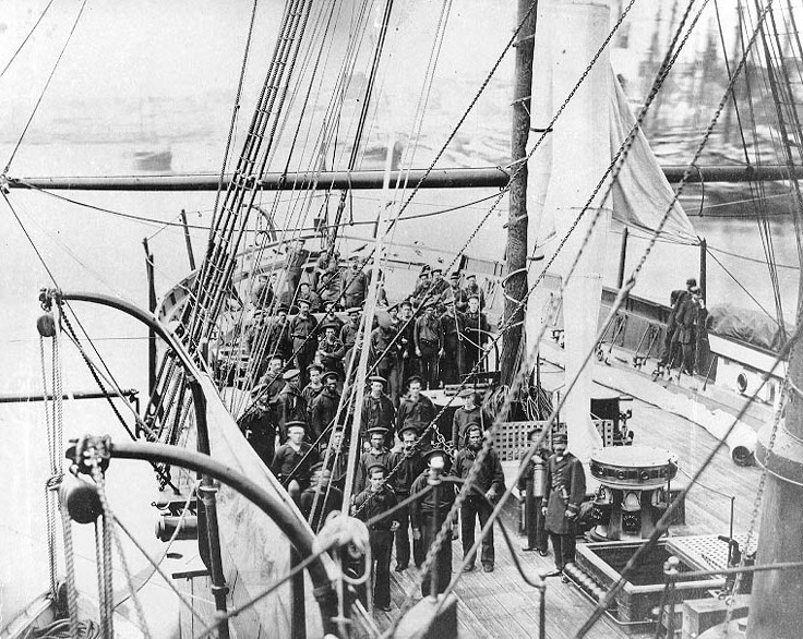 USS Tioga in the Civil War. John may well be in this image (NavSource Naval History)